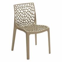 Cadeira Gruvyer - Fabricada Na Itália - Cor Nude