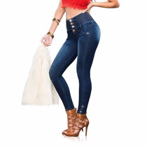 Jeans Pretina Ancha Cintura Alta Seven Eleven Envío Gratis *