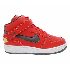Tênis Nike Air Force Cano Alto Vermelho E Preto