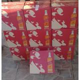 2 Caixas De Whisky Red Label Garrafa Vazia Coleção