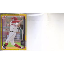 2015 Bowman Baseball Gold /50 1st Rc Jared Foster Of Angels