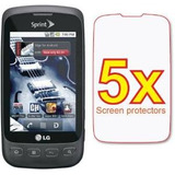 Pantalla 5x Lg Optimus S Ls670 Premium Clear Lcd Kit Protect