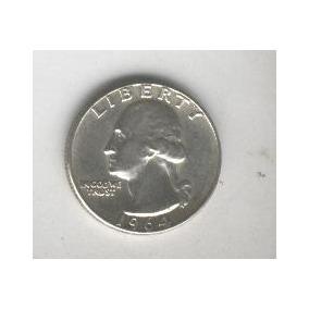 Moneda Estados Unidos Plata 25 Centavos Año 1964 Excelente!!