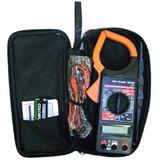 Multimetro Alicate Amperímetro Digital 266 Estojo Bateria