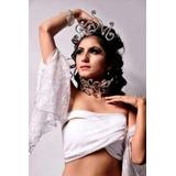 Set Corona Y Gran Collar Strass Danza Arabe Belly Dance