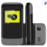 Oferta Celular Dl Yc230 Flip Dual Desbloqueado 12x Sem Juros