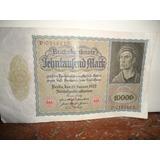 Billete De 10.000 Marcos Alemanes De 1922