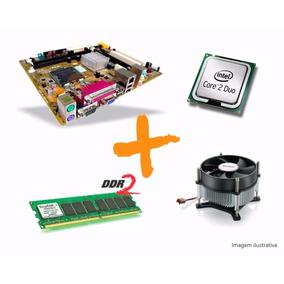 Kit Intel Lga 775 -core2 Duo E7200+placa Mãe+cooler+2gb Ddr2