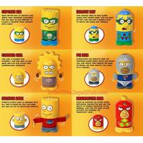 Simpsons Heroes Coleccion 6pza Nuevos Burger King Gamechieff