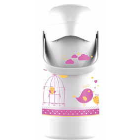 Garrafa Térmica Termolar 500ml Higiene Bebê Branca E Rosa