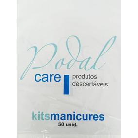 Kit 50 Manicure + 50 Pedicure Pares Descartável Luvas Botas