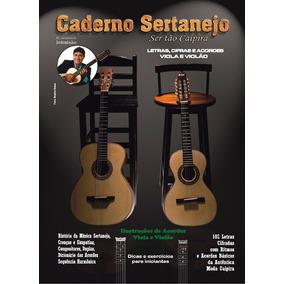 Caderno Sertanejo Letras, Cifras Viola E Violao Vol.1 E 2