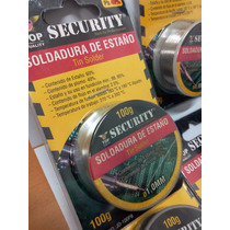Estaño Para Soldar 60/40 De 100gm Largo Flux 2.5% Security