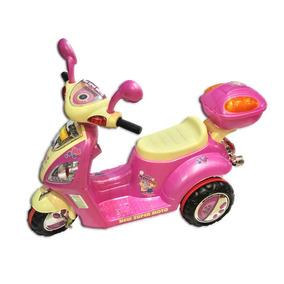 Scooter Rosa De Juguete A Batería Con Luces Y Sonidos Reales