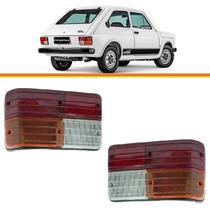2 Lanterna Traseira Fiat 147 77 78 79 80 81 82 Tricolor -par