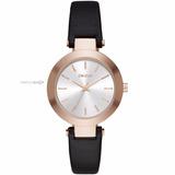 Reloj Dkny Leather Black Dama Ny2458 Rose Tone | Watchito