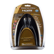 Monster - Cable Hdmi Ultra Hd Gold 3 Mts - Negro