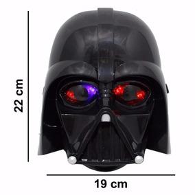 Máscara Star Wars Darth Vader Luz Led Fantasia Infantil