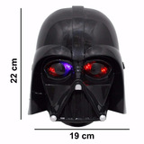 Máscara Star Wars Darth Vader Luz Led Fantasia Infantil