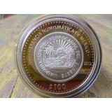 Moneda Mexico Ferrocarril 100 Pesos Herencia Numismatica