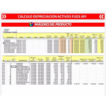 Plantilla En Excel De Calculo Depreciacion Activos Fijo Api