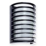 Aplique Pared Exterior Tipo Tortuga Aluminio E27 Apto Led