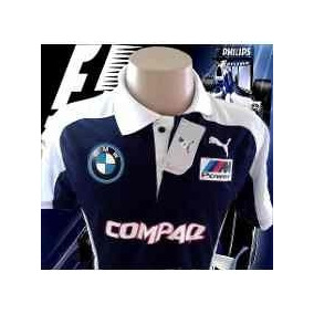 Camisa Bmw Willians Formula 1 F1 Pólo Azul Felipe Massa Nova