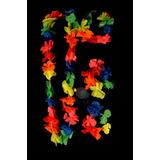 Set Hawaiano X5! Collar, Pulseras Y Vincha- Disfraz Cotillon