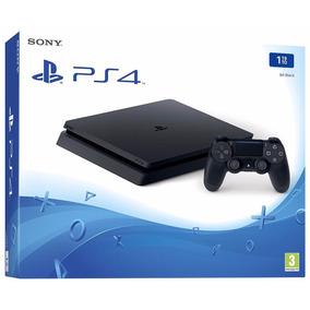 Playstation 4 Slim 1tb Ps4 Dois Controles 2. Novo Na Caixa