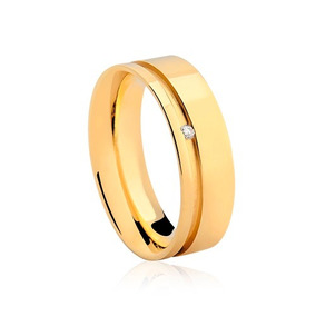 Glitter Joias - Aliança Vivara Valentines Ouro E Diamante