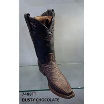 Bota Cuadra Piel Elefante Estilo Versage Dusty Chocolate