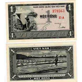 Lindo Billete Vietnam Del Sur 1 Dong Año 1955 Sin Circular