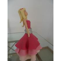 Adorno Para Torta De Barbie Moda Magica En Paris!!