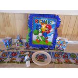 Cotillón Cumpleaños Mario Bros Personalizado