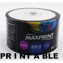 600 Dvd-r Maxiprint 16x Print. ( Made Taiwan) Frete Gratis