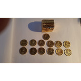 Arras 13 Monedas De 20 Centavos Plata, Sol ,chapeadas En Oro