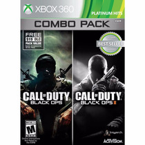 Call Of Duty Black Ops 1 E 2 : Combo Pack - Xbox 360 Lacrado