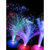 20 Centros De Mesa Luminosos. Fibra Optica. Fiestas C/ Pilas