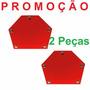 2 Pçs Esquadro Magnético P/ Solda Multi Angulos - Promoção
