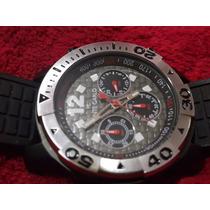 Relógio Monte Carlo Cronógrafo Preto Cinza Sport