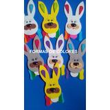 Oferta! Caritas De Conejos En Goma Eva! Pascua 2017 X10 Unid