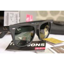 Óculos De Sol Rayban Wayfarer Rb2140 Preto Fosco Original