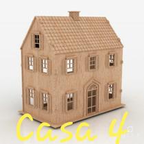 Casa Casinha Mdf Boneca + Kit De 21 Móveis P/ Montar - M4