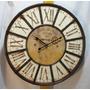 Reloj Pared Estilo Vintage Diámetro 60 Cm Con Reja Metálica