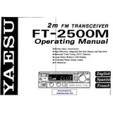 Manual Base Yaesu Ft-2500m Original Foto Solo Ilustrativa