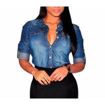 Camisa, Blusa Feminina Jeans Importada - Preço Atacado