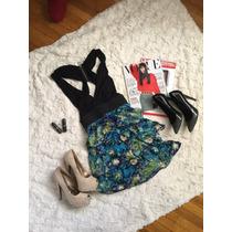Vestido Corto De Flores En Talla Chica