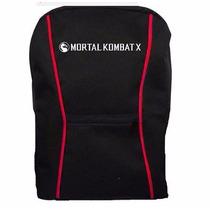 Mochila Mortal Kombat X Preta/vermelha (nova)