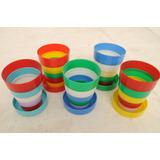 Vasos Magicos De Plastico Plegable Antiguo Escolar C 1960