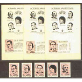 Actores Argentinos - Serie Mint Nº 892/96 + 5 Tarjetas Pde -